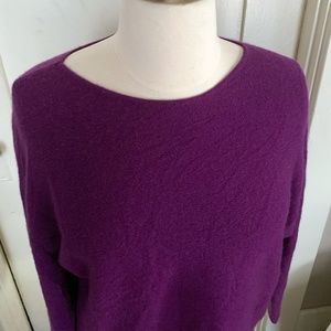 100% Cashmere Dolman-Sleeve Sweater 1X